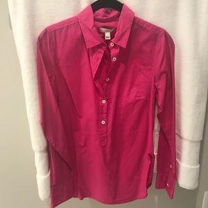 JCrew Hot Pink Long Sleeve Shirt Size 0